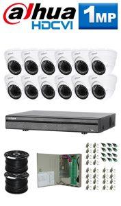 1Mp Custom Dahua HDCVI Package - 16Ch DVR, 12 Dome Cameras
