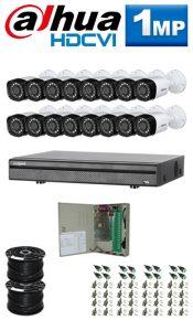 1Mp Custom Dahua HDCVI Package - 16Ch DVR, 16 Bullet Cameras