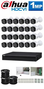 1Mp Custom Dahua HDCVI Package - 32Ch DVR, 24 Bullet Cameras