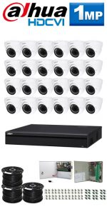 1Mp Custom Dahua HDCVI Package - 32Ch DVR, 24 Dome Cameras