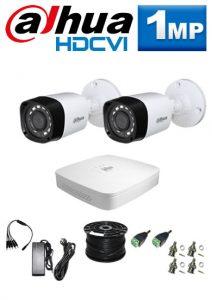 1Mp Custom Dahua HDCVI Package - 4Ch DVR, 2 Bullet Cameras
