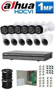 1Mp Custom Dahua HDCVI Package - 16Ch DVR, 12 Bullet x Dome Cameras