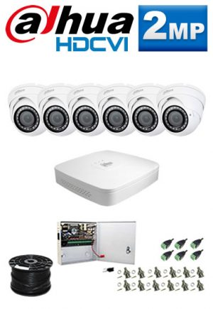 2Mp Custom Dahua HDCVI Package - 8Ch DVR, 6 Dome Cameras