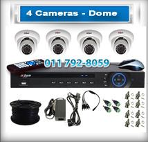 4 Dome Cameras