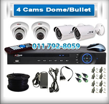 4 Bullet & Dome Cameras
