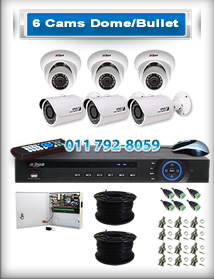 6 Bullet & Dome Cameras