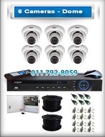 6 Dome Cameras
