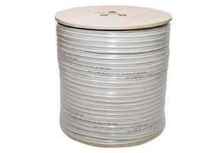 RG59 Coaxial Power Cable White 300 metres