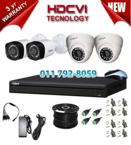 2Mp Custom Dahua HDCVI Package - 4Ch DVR, 4 Bullet x Dome Cameras