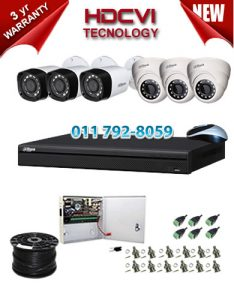 1Mp Custom Dahua HDCVI Package - 8Ch DVR, 6 Bullet x Dome Cameras
