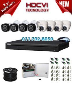 1Mp Custom Dahua HDCVI Package - 8Ch DVR, 8 Bullet x Dome Cameras
