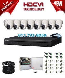 1Mp Custom Dahua HDCVI Package - 8Ch DVR, 8 Dome Cameras