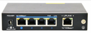 4 Port 10/100Mbps PoE + 1Port 10/100Mbps Uplink Switch NW100