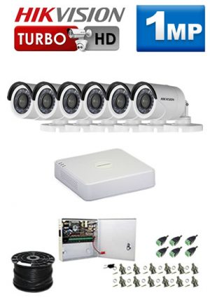 1Mp Custom HIKVISION Turbo HD Package - 8Ch DVR, 6 Bullet Cameras