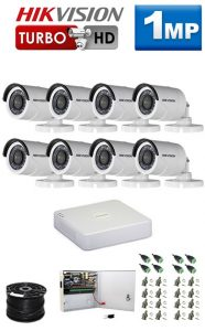 1Mp Custom HIKVISION Turbo HD Package - 8Ch DVR, 8 Bullet Cameras