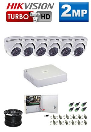 2Mp Custom HIKVISION Turbo HD Package - 8Ch DVR, 6 Dome Cameras
