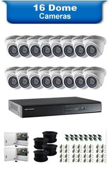 16 Dome Cameras