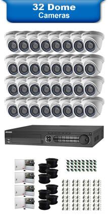 32 Dome Cameras
