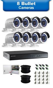 8 Bullet Cameras