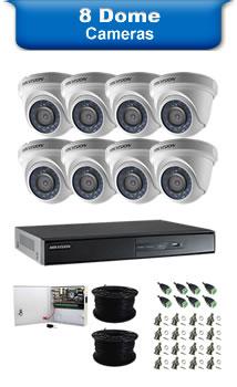 8 Dome Cameras