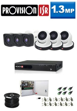 1.3Mp Custom ProVision AHD Package - 8Ch DVR, 6 Bullet x Dome Cameras
