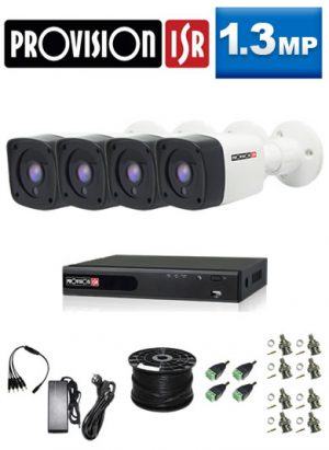 1.3Mp ProVision AHD Package - 4Ch DVR, 4 x Bullet Cameras