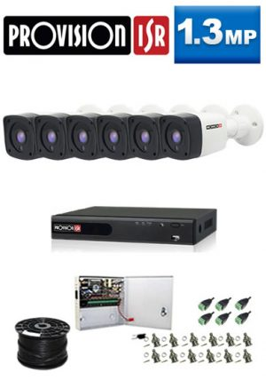 1.3Mp Custom ProVision AHD Package - 8Ch DVR, 6 Bullet Cameras