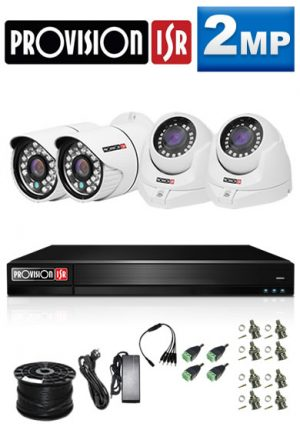 2Mp Custom ProVision AHD Package - 4Ch DVR, 4 Bullet x Dome Cameras