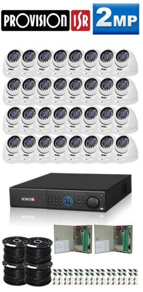 2Mp Custom ProVision AHD Package - 32Ch DVR, 32 Dome Cameras