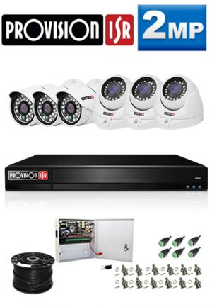 2Mp Custom ProVision AHD Package - 8Ch DVR, 6 Bullet x Dome Cameras