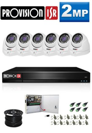 2Mp Custom ProVision AHD Package - 8Ch DVR, 6 Dome Cameras