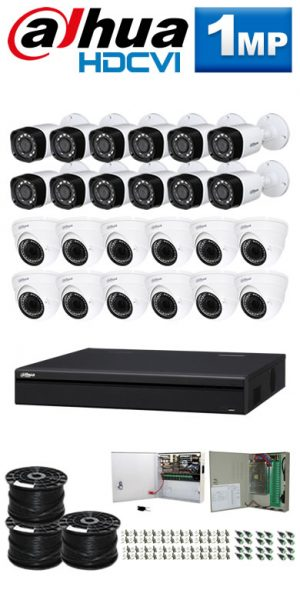 1Mp Custom Dahua HDCVI Package - 32Ch DVR, 24 Bullet x Dome Cameras