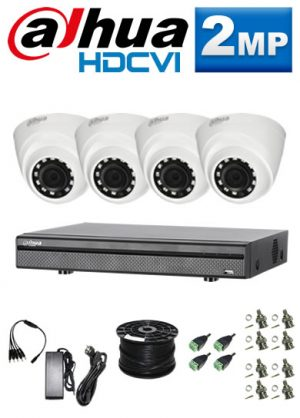 2Mp Custom Dahua HDCVI Package - 1080P 8Ch DVR, 4 Dome Cameras (SW)