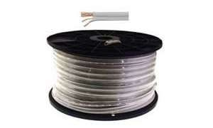 RG59 Coaxial Power Cable White 100 metres