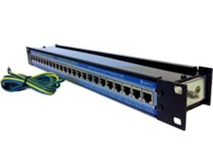 CLEARLINE Gigabit 24 PORT Multiport Surge Protector Rack POE
