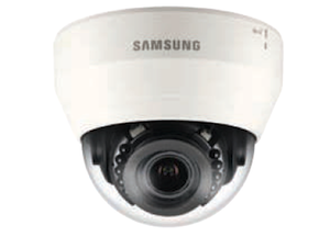 Samsung 1.3 Mp 2.8 ~ 12mm Varifocal lens PTR HD 15m IR LCD Network Dome Camera