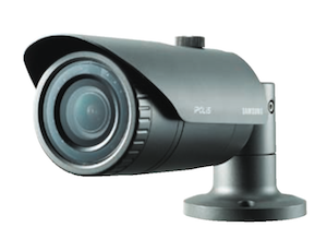 Samsung 1.3Mp Weather-proof 2.8 ~ 12mm Varifocal lens 20m IR Network Bullet Camera