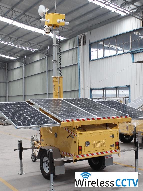 Mobile Solar CCTV Trailer - WCCTV-1200C-C-4