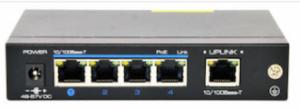 4 Port 10/100Mbps PoE + 1Port 10/100Mbps Uplink Switch NW100