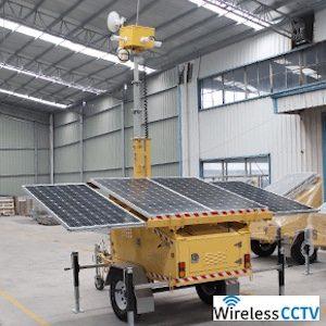 Mobile Solar CCTV Trailer