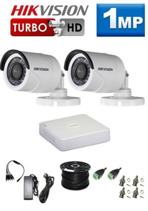 1Mp Custom HIKVISION Turbo HD Package - 4Ch DVR, 2 Bullet Cameras