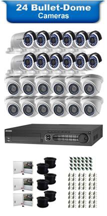 24 Bullet & Dome Cameras