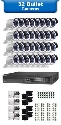32 Bullet Camera Packages