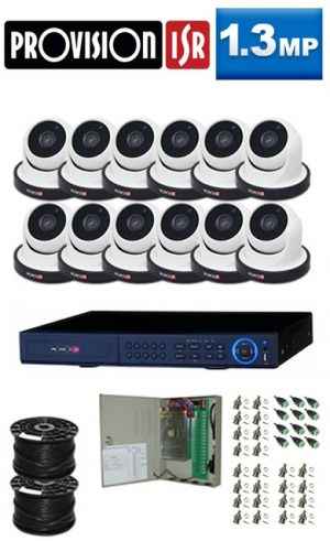 1.3Mp Custom ProVision AHD Package - 16Ch DVR, 12 Dome Cameras