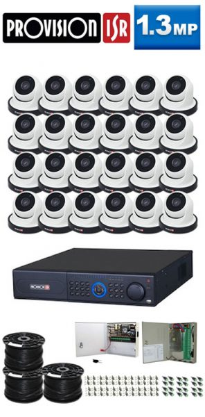 1.3Mp Custom ProVision AHD Package - 32Ch DVR, 24 Dome Cameras