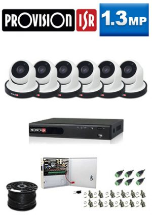 1.3Mp Custom ProVision AHD Package - 8Ch DVR, 6 Dome Cameras