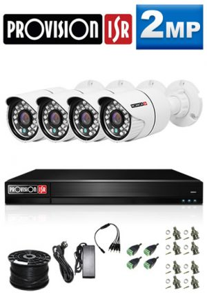 2Mp Custom ProVision AHD Package - 4Ch DVR, 4 Bullet Cameras