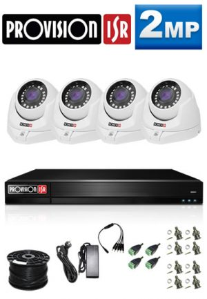 2Mp Custom ProVision AHD Package - 4Ch DVR, 4 Dome Cameras