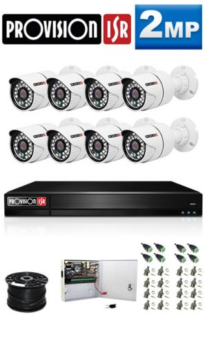2Mp Custom ProVision TAHD Package - 8Ch DVR, 8 Bullet Cameras