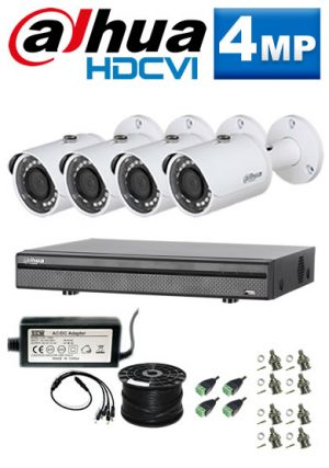 4Mp Custom Dahua HDCVI Package - 8Ch DVR, 4 Bullet Cameras (SW)